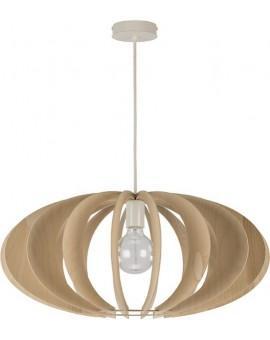 Deckenlampe Hängelampe Stoffschirm Holz Eko Elipsa B 30162