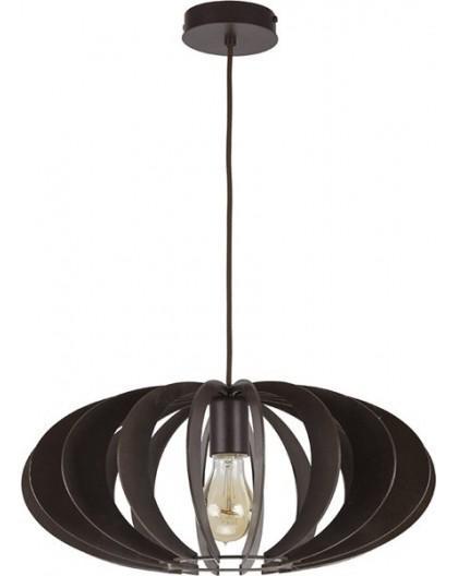Deckenlampe Hängelampe Stoffschirm Holz Eko Elipsa B 30163