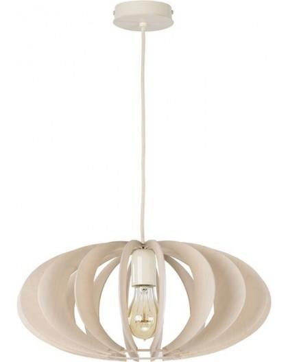 Deckenlampe Hängelampe Stoffschirm Holz Eko Elipsa B 30164