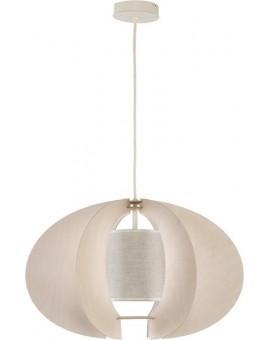 Deckenlampe Hängelampe Stoffschirm Holz Eko Elipsa C 30167