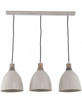 Deckenlampe Hängelampe Holz Metall LEO 3 30672