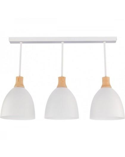 Deckenlampe Deckenleuchte Holz Metall LEO 3 30677