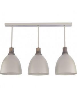 Deckenlampe Deckenleuchte Holz Metall LEO 3 30678