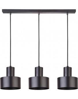 Deckenlampe Hängelampe Metall Modern Design Stahl Rif 3-flg Schwarz 30899