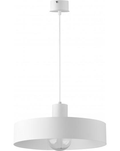 Deckenlampe Hängelampe Metall Modern Design Stahl Rif 1-flg L Weiß 30901