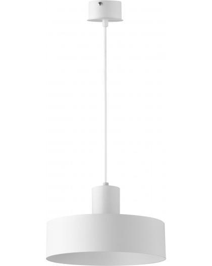 Deckenlampe Hängelampe Metall Modern Design Stahl Rif 1-flg M Weiß 30902