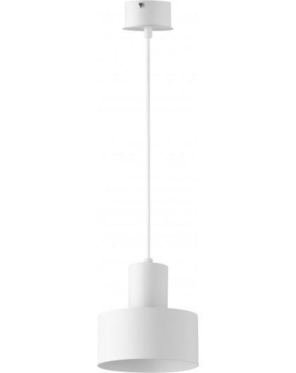 Deckenlampe Hängelampe Metall Modern Design Stahl Rif 1-flg S Weiß 30903