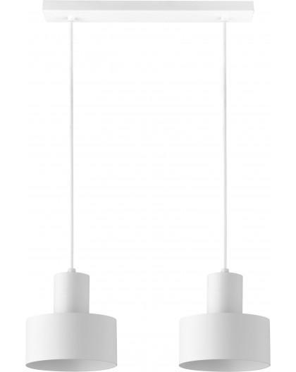 Deckenlampe Hängelampe Metall Modern Design Stahl Rif 2-flg Weiß 30904