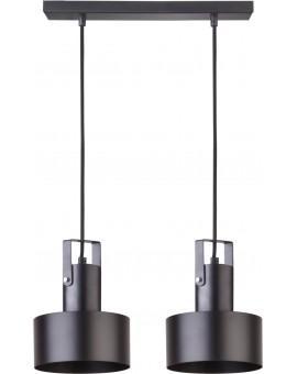 Deckenlampe Hängelampe Metall Modern Design Stahl Rif plus 2-flg Schwarz 31193