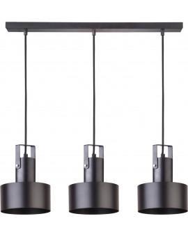 Deckenlampe Hängelampe Metall Modern Design Stahl Rif plus 3-flg Schwarz 31194