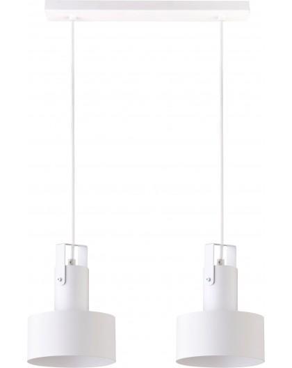 Deckenlampe Hängelampe Metall Modern Design Stahl Rif plus 2-flg Weiß 31199