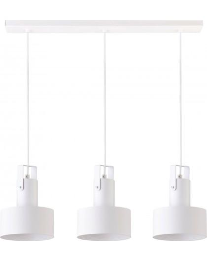 Deckenlampe Hängelampe Metall Modern Design Stahl Rif plus 3-flg Weiß 31200