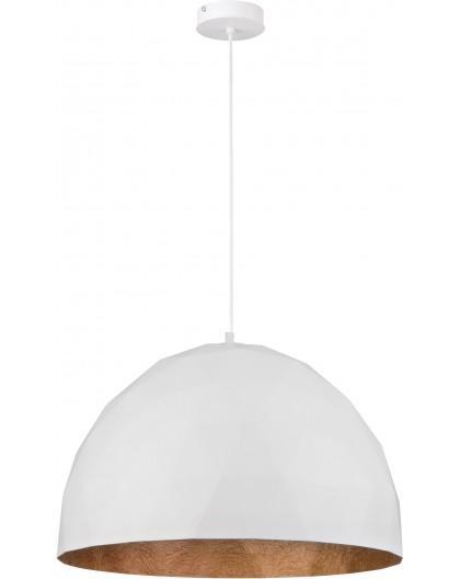Lampe Hängelampe Diament L Modern Design Mineralkomposit Weiß Kupferfarben 31370