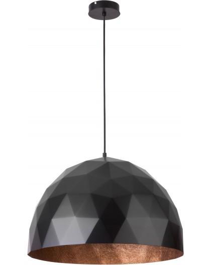 Hängelampe Diament L Modern Design Mineralkomposit Schwarz Kupferfarben 31368