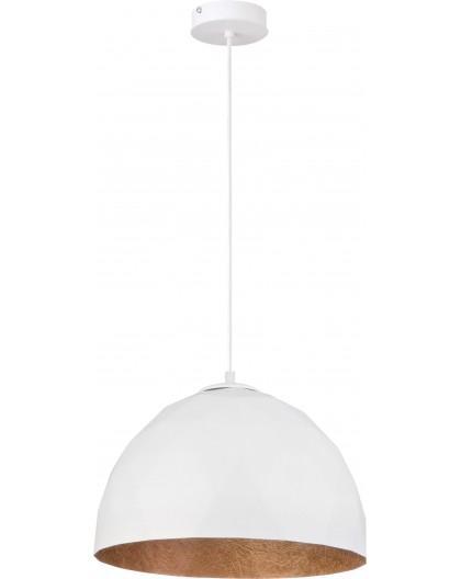 Hängelampe Diament M Modern Design Mineralkomposit Weiß Kupferfarben 31374