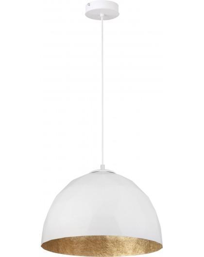 Deckenlampe Hängelampe Diament M Modern Design Mineralkomposit Weiß Golden 31373