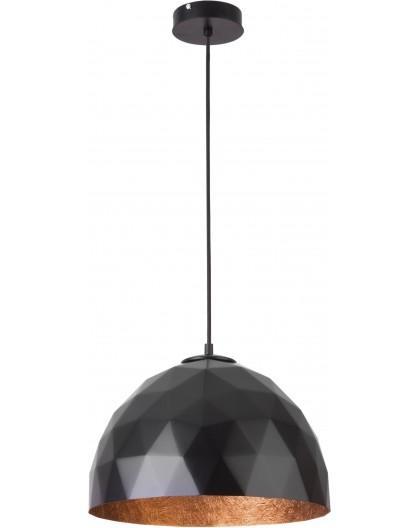 Hängelampe Diament M Modern Design Mineralkomposit Schwarz Kupferfarben 31372