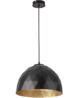 Lampe Hängelampe Diament M Modern Design Mineralkomposit Schwarz Golden 31371