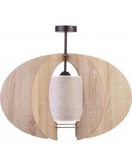 Deckenlampe Deckenleuchte Holzlampe Modern Design Holz hell Modern C L Beige 31332