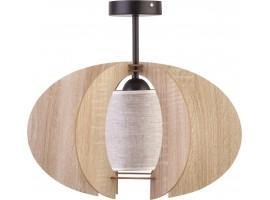 Deckenlampe Deckenleuchte Holzlampe Modern Design Holz hell Modern C S Beige 31334