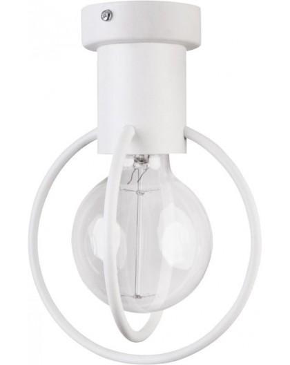 Deckenlampe Deckenleuchte Drahtlampe Design Metall Aura 1-flg Weiß Matt 31102