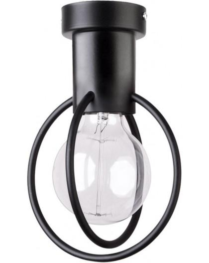 Lampa Plafon Aura koło 1 czarny mat 31091 Sigma