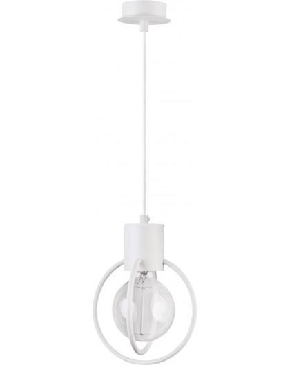 Deckenlampe Hängelampe Drahtlampe Design Metall AURA1 Weiß Matt 31099