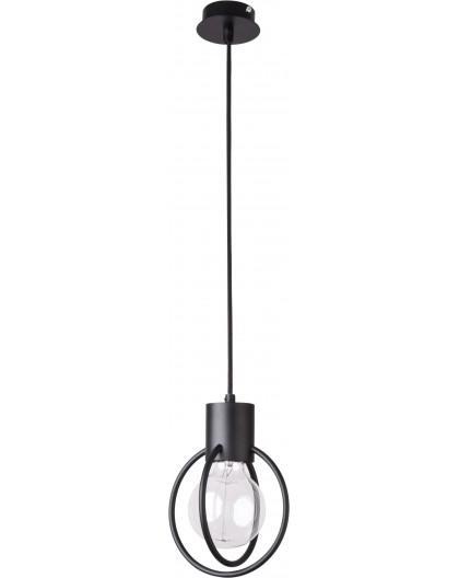 Hanging lamp Aura round 1 black mat 31088 Sigma