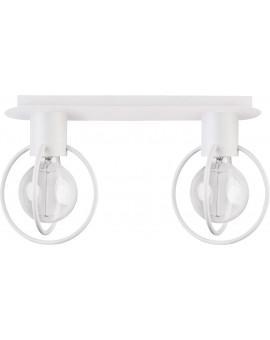 Deckenlampe Deckenleuchte Drahtlampe Design Metall Aura 2-flg Weiß Matt 31103