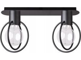 Deckenlampe Deckenleuchte Drahtlampe Design Metall AURA 2-flg Schwarz Matt 31092
