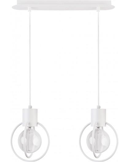 Deckenlampe Hängelampe Drahtlampe Design Metall Aura 2-flg Weiß Matt 31100