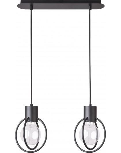 Hanging lamp Aura round 2 black mat 31089 Sigma