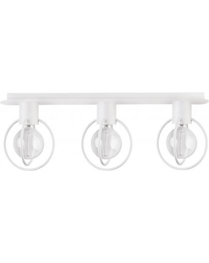 Deckenlampe Deckenleuchte Drahtlampe Design Metall Aura 3-flg Weiß Matt 31104