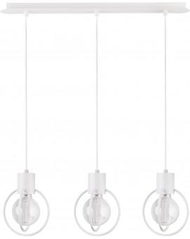 Hanging lamp Aura round 3 white mat straight 31101 Sigma