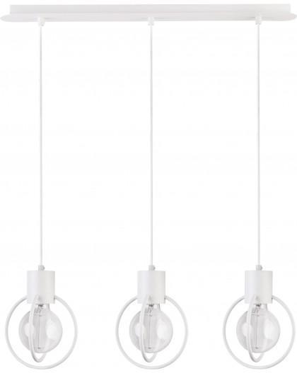 Deckenlampe Hängelampe Drahtlampe Design Metall Aura 3-flg Weiß Matt 31101