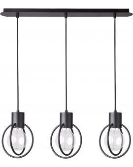 Hanging lamp Aura round 3 black mat straight 31090 Sigma