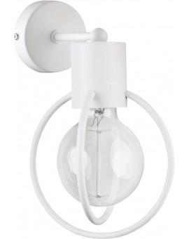 Wandlampe Wandleuchte Drahtlampe Design Metall Aura Weiß Matt 31105