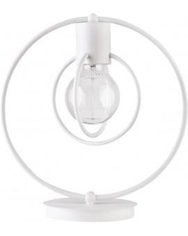 Tischlampe Nachtlampe Drahtlampe Design Metall Aura Weiß Matt 50081