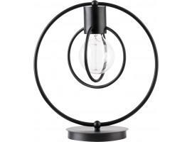 Tischlampe Nachtlampe Drahtlampe Design Metall Aura Schwarz Matt 50080