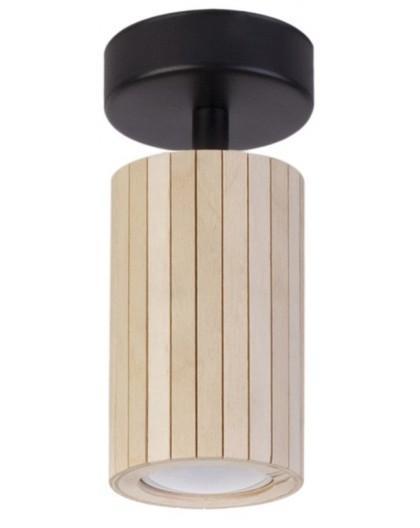 Lampe Deckenlampe Deckenleuchte Holz Design Modern Slomka 12cm 32994
