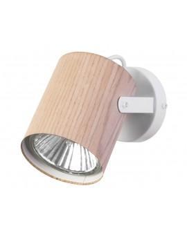 Lampe Wandlampe Wandleuchte Modern Spot Strahler FLESZ E27 Eiche 31656