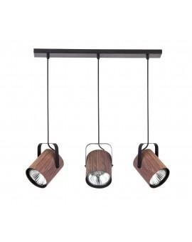 Lampe Deckenlampe Hängelampe Modern Design FLESZ E27 Wenge 3-flg 31655