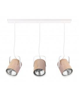 Lampe Deckenlampe Hängelampe Modern Design FLESZ E27 Eiche 3-flg 31654