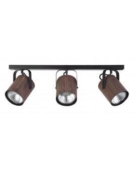 Lampe Deckenlampe Deckenleuchte Spot Leiste FLESZ E27 Wenge 3-flg 31653