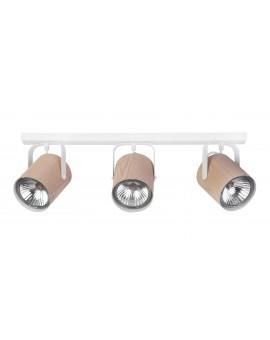 Lampe Deckenlampe Deckenleuchte Spot Leiste FLESZ E27 Eiche 3-flg 31652