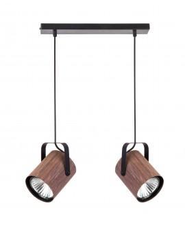 Lampe Deckenlampe Hängelampe Modern Design FLESZ E27 Wenge 2-flg 31651
