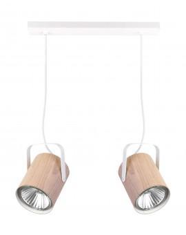 Lampe Deckenlampe Hängelampe Modern Design FLESZ E27 Eiche 2-flg 31650
