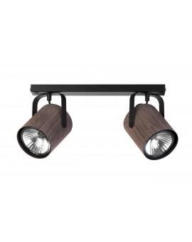 Lampe Deckenlampe Deckenleuchte Spot Leiste FLESZ E27 Wenge 2-flg 31649