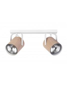 Lampe Deckenlampe Deckenleuchte Spot Leiste FLESZ E27 Eiche 2-flg 31648