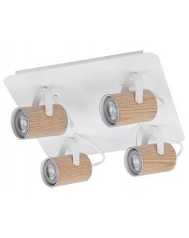 Lampe Deckenlampe Spot Leiste Strahler KAMERA FORNIR Eiche 4-flg 32992